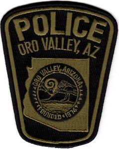 Oro Valley dark green Police Patch Arizona AZ