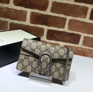GUCCI Dionysus GG Supreme Shoulder Bag Super Mini NEW