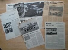 MINI collection of orig 1960 70s road tests - 1275 GT BMC 1000 Automatic Mk II