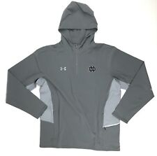 New Under Armour Notre Dame Fighting Irish Squad Woven 1/4 Zip Men's Large Grey