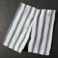 Homemade Doll Clothes-Light Gray Print Pants fits Ken Doll P4