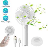 Portable Mini Handheld Fan Desk Fan 3 Speeds Rechargeable Battery / USB Powered