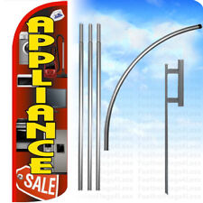 Appliance Sale - Windless Swooper Flag Kit Feather Banner Sign - rq