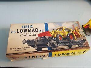 AIRFIX OO & HO BR LOWMAC & JCB 3 EXCAVATOR Built 1964 Box