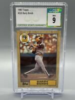 1987 BARRY BONDS TOPPS ROOKIE #320 CSG 9 PIRATES