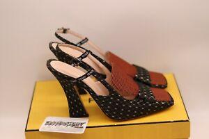 FENDI Roma Freedom Slingback Heels | Brown | Size UK6 EU40 | Shoes Strap