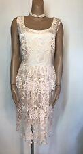 Lovedrobe For Simply Be Peach Crochet Skater Style Dress BNWT 18