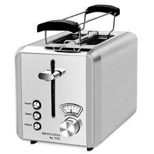 Edelstahl 2 Scheiben Toaster Brötchenaufsatz Toastautomat Aufwärmfunktion 925W