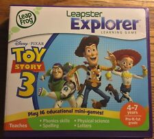 Leapster Explorer DISNEY TOY STORY 3 Game W/ Instructions & Case Leap Frog