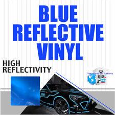 Reflective Sign Vinyl Adhesive Safety Plotter Cutter 12x10 Feet Blue
