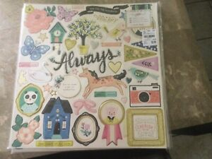 Crate Paper Maggie Holmes Willow Lane embellishment lot