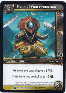 WOW WARCRAFT TCG WRATHGATE HELM OF VITAL PROTECTION X 4