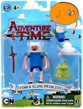 """Adventure Time Finn Y Slime Princesa 3"""" Figura Set-Nuevo en la acción"""