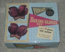 EVERLAST  JACK DEMPSEY BOXING GLOVES SET  VINTAGE  BOXED  4 GLOVES  1103  YOUTH