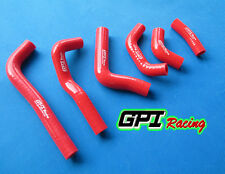 HONDA CRF450R CRF 450 R 2002 2003 2004 silicone radiator coolant hose kit RED