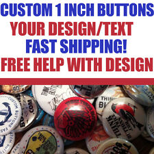 "25 Custom 1"" inch Buttons Badges Pins Punk Indie Bands Rock Pinback"
