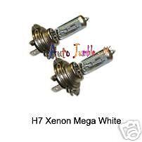 Las bombillas de xenón H7 Mega Blanco 12 V 55 W Bombilla de Faro Luz actualización claro coche