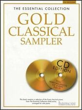 The Essential Collection Gold Classical Sampler 00004000  Piano Solo Music Book/Cd'S-New!