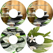 Relaxation Music on 4 CD Healing Stress Anxiety Relief Deep Sleep Massage Spa