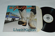 THE GOOD BROTHERS Live 'N Kickin' LP 1983 Solid Gold SGR-1015 Country VG+/VG