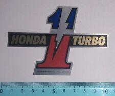 ADESIVO STICKER AUTOCOLLANT MOTO TUNING HONDA TURBO 1 VINTAGE ANNI'80 10x7 cm