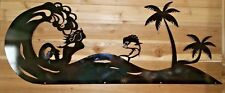 "Mermaid in a wave 42""x17""  Sign   Hand Made in Waco Texas CNC METAL ART"