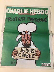 charlie hebdo n°1178  14 janvier 2015  TOUT EST PARDONNE 1er tira L14057 ed orig