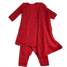 Salwar Kameez Robe Pantalon Écharpe 38 Gr. M Inde Bollywood Costume Rouge 40V