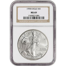1998 American Silver Eagle - NGC MS69