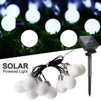 Solar Powered Retro Bulb String Lights For Garden Outdoor Fairy Lamp Party Decor