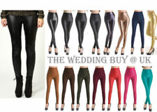 Full Length Faux Leather Petite Leggings for Women
