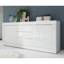 Sideboard Basic Wohnzimmer Kommode weiß lackiert Breite 210 cm
