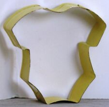 "EUC Yellow ONESY One-PIECE Metal COOKIE Cutter BABY SHOWER 3.25"" x 3"" x 1"" d"