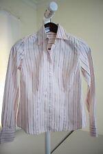 Ann Taylor 100% Cotton Multi-Colored Striped Button Down Shirt Size - 2