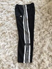Vintage 90s Adidas Mens Warm Up Pants  Three Stripes Side Snap Tear Away Sz L