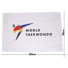 World Taekwondo Flag Kukkiwon TKD Federation Studio Fitness Gym Decoration New