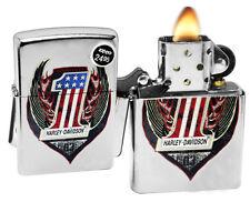 Zippo 29347 Harley Davidson Street Chrome Finish Color Image Windproof Lighter