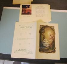 1930's Methodist Protestant Church Christmas Service and Greeting Card Samples