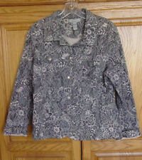 Analogy womens junior jacket cotton stretch textured long sleeve gray size XL