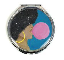 Afro Pop Handmade Compact Mirror - Natural Hair, African American, Black Girl