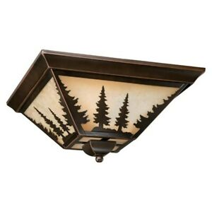 Vaxcel Yosemite 14' Flush Mount Burnished Bronze - CC55514BBZ
