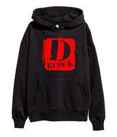 D Block Red Logo Hoodie Hip Hop Rap Sweatshirt Jadakiss The Lox merch Black