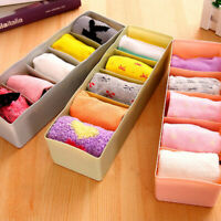 5Compartments Underwear Sock Storage Box Waterproof Desk Drawer Storage Boxes BO