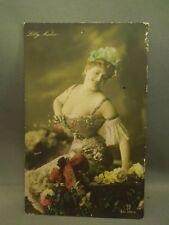 Antique Early 1900's Risque Pin Up Girl Woman Lilly Nador Gg Co Postcard