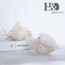 Glass Seashell Handmade Glass Conch Hand Blown Crystal Conch Home Decor Figurine
