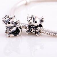 Baby Elephant Silver Charm Fit For European Charm Bracelets