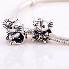 Baby Elephant Silver Charm Fit For European Charm Bracelets