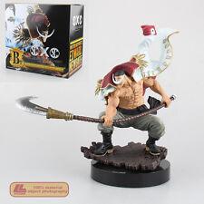 "Anime One Piece White Beard Pirates Edward Newgate 8"" PVC Statue Figure Toy Gift"