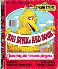 Little Golden Book: Big Bird's Red Book - HC Vintage 1977 - Sesame Street