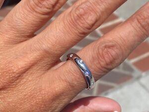 Tiffany & Company Etoile Platinum Diamond Band Ring 0.30 Carat Total Weight